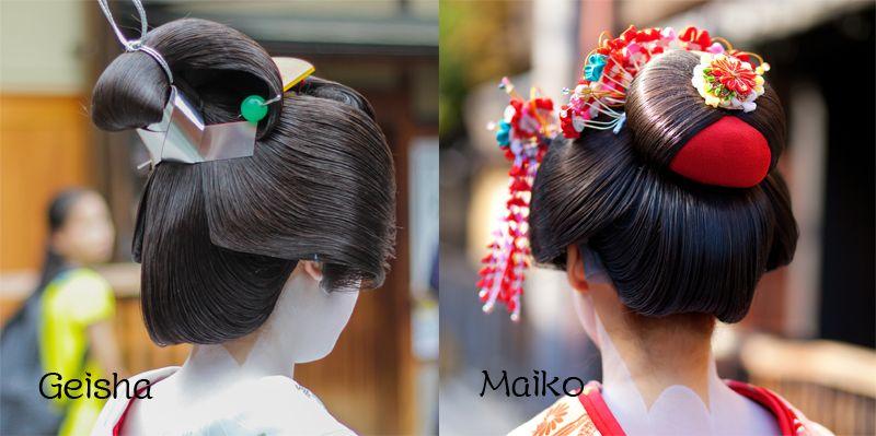 kiểu tóc đơn giản khi mặc Kimono