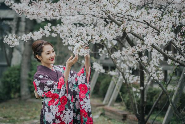 cach di khi mac kimono nhat