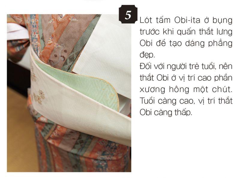 cách mặc kimono bước 5