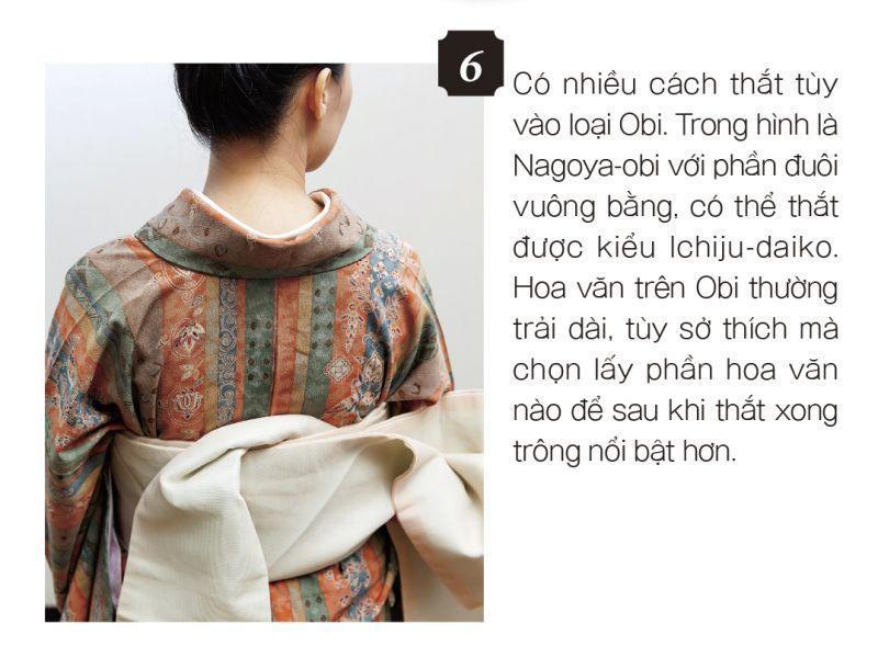 cách mặc kimono bước 6