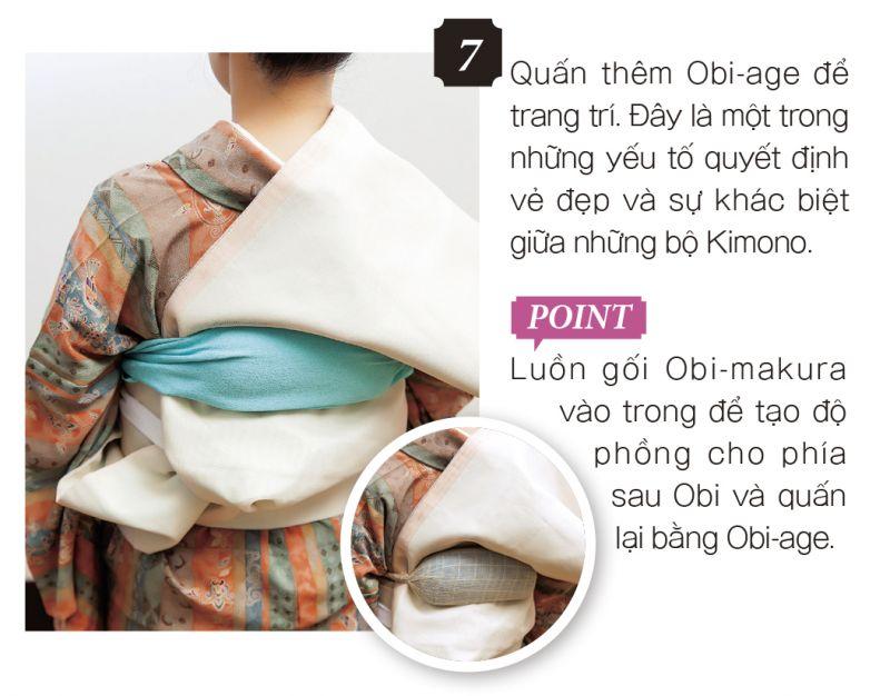 cách mặc kimono bước 7