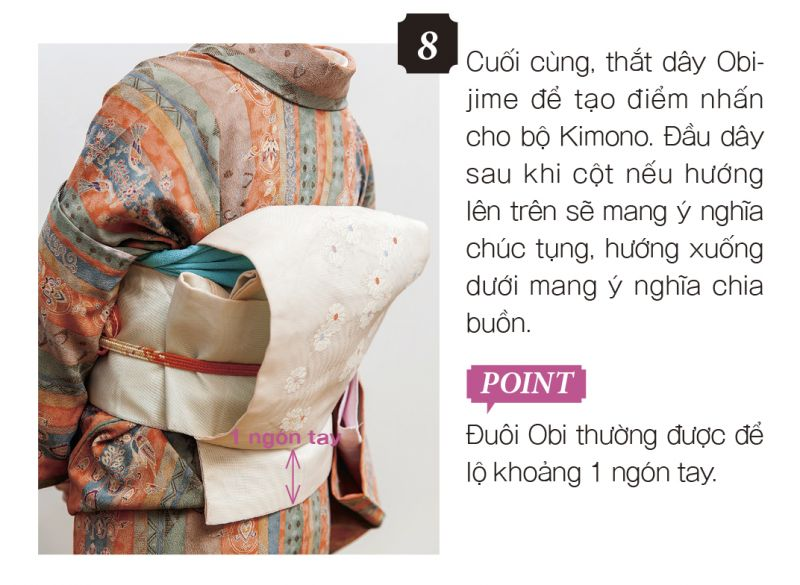 cách mặc kimono bước 8