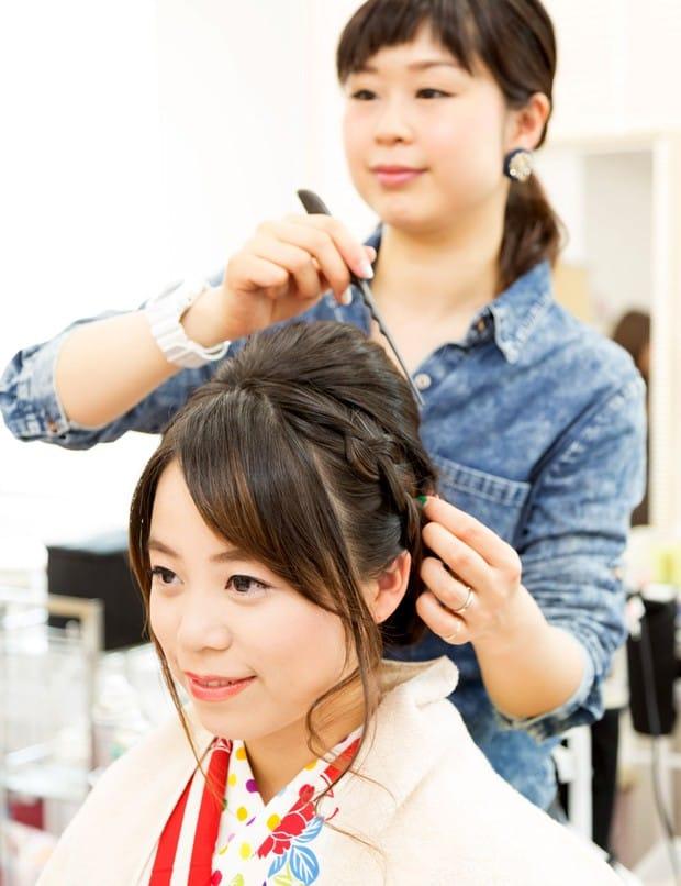 trang điểm khi mặc kimono